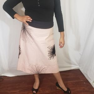 DKNY knitted flowers midi skirt size 12